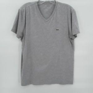 Vintage Lacoste light grey v neck t shirt